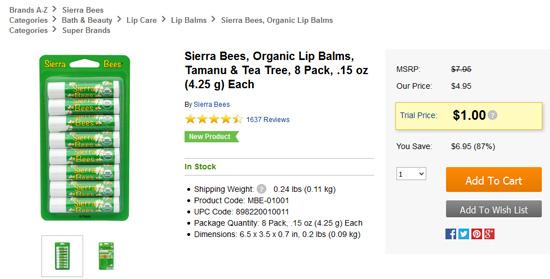 Sierra Beesリップクリーム8本セットセール