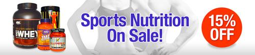 スポーツトレーニング&エクササイズ用サプリメント15%割引セール
