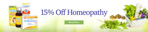 ホメオパシーカテゴリー全商品15%割引セール