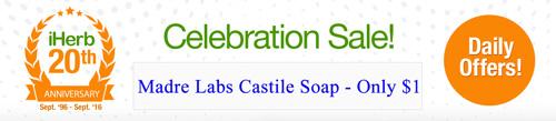 Madre Labsのカスチール石鹸セール