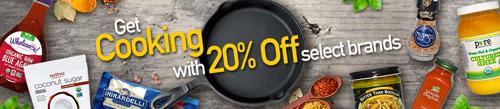 食料品カテゴリ人気商品の20%割引セール