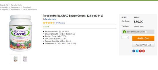 ORAC Energy Greensのセール