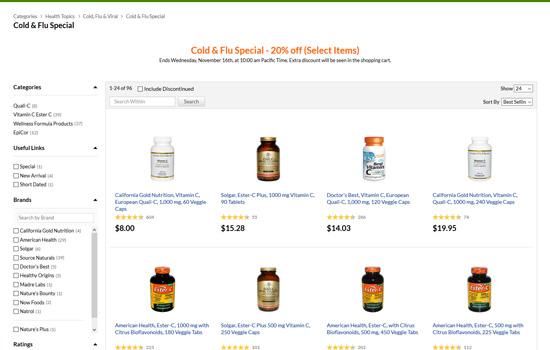 風邪&インフルエンザ対策製品20%割引セール